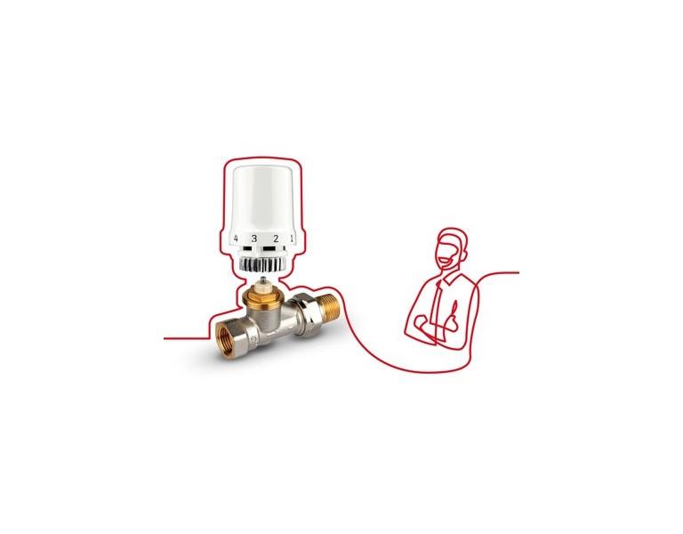 Honeywell radiatorkranen en radiatoraansluitingen
