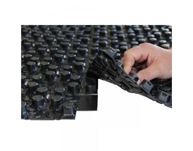 Chauffage par le sol système de panneaux à plots